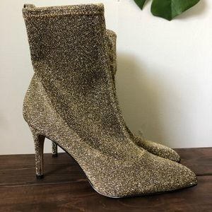 Sam Edelman Booties Boots Gold Size 6.5